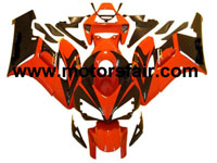 Honda CBR1000RR 2004-2005 ABS Fairing - Red/Black***No Honda Logos***