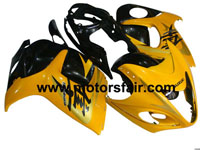 Suzuki GSXR 1300 Hayabusa 2008-2009 ABS Fairing - Black/Yellow
