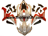 Yamaha R1 2007-2008 ABS Fairing - White/Red