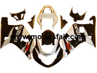 Suzuki GSXR 600/750 2001-2003 ABS Fairing - Black/White