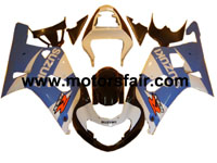 Suzuki GSXR 600/750 2001-2003 ABS Fairing - Blue/White