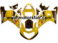 Suzuki GSXR 600/750 2001-2003 ABS Fairing - Yellow