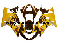 Suzuki GSXR 600/750 2001-2003 ABS Fairing - Yellow/Black