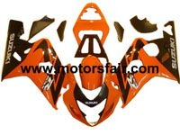 Suzuki GSXR 600/750 2004-2005 ABS Fairing - Orange/Black