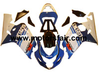 Suzuki GSXR 600/750 2004-2005 ABS Fairing - Blue/White