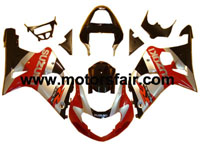 Suzuki GSXR 1000 2001-2002 ABS Fairing - Red/Silver