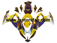 Suzuki GSXR 600/750 2006-2007 ABS Fairing - Blue/Yellow