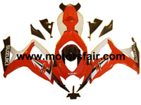 Suzuki GSXR 600/750 2006-2007 ABS Fairing - Red/White