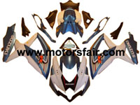 Suzuki GSXR 600/750 2008-2009 ABS Fairing - Blue/White