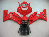 Kawasaki ZX6R 2003-2004 ABS Fairing - Red