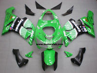 Kawasaki ZX6R 2005-2006 ABS Fairing - Green/Black