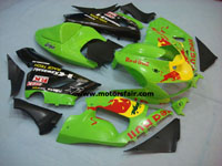 Kawasaki ZX6R 2005-2006 ABS Fairing - Green Red Bull