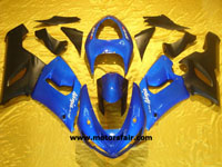Kawasaki ZX6R 2005-2006 ABS Fairing - Blue/Black