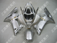 ZXMT Silver ABS Fairing Set 10pc - Kawasaki ZX-6R 2003-2004