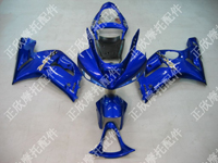 ZXMT Blue ABS Fairing Set 10pc - Kawasaki ZX-6R 2003-2004