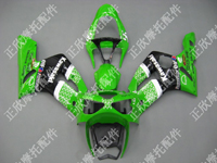 ZXMT Green/Black ABS Fairing Set 10pc - Kawasaki ZX-6R 2003-2004