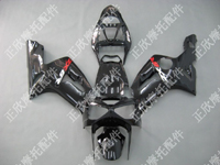 ZXMT Black ABS Fairing Set 10pc - Kawasaki ZX-6R 2003-2004