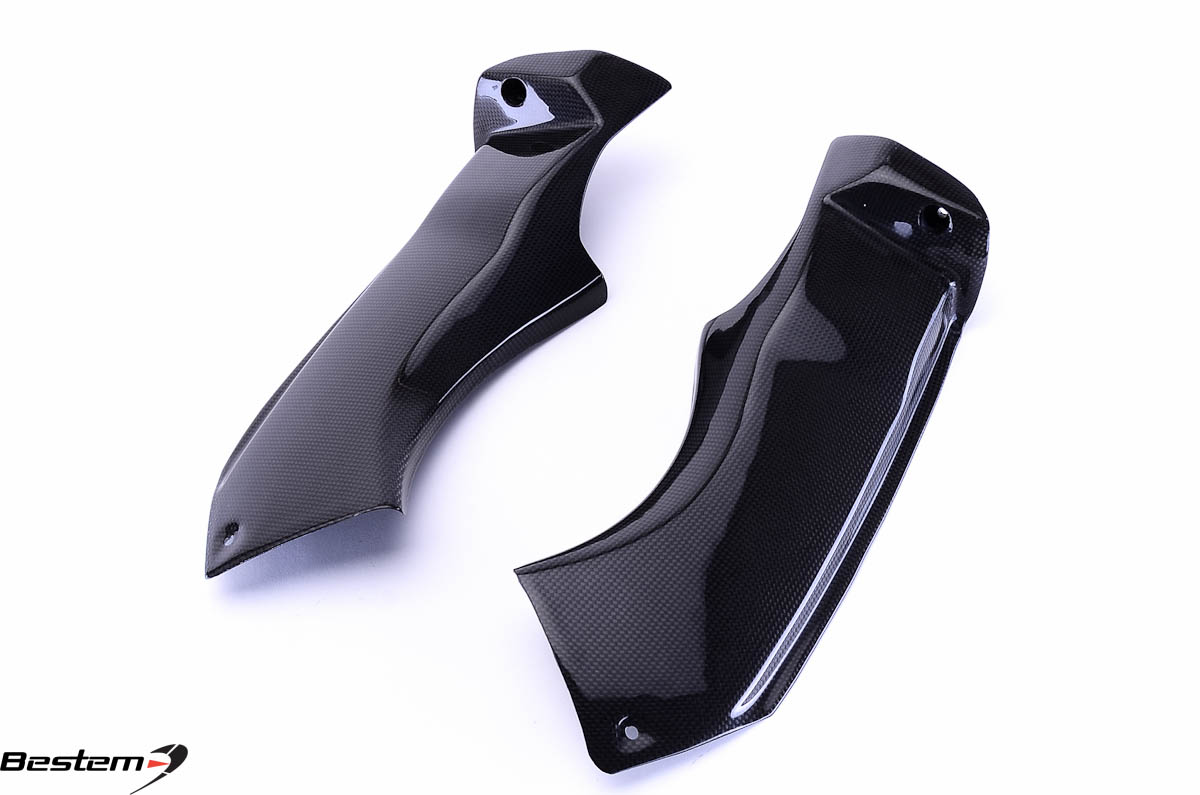 Bestem Kawasaki ZX6R 2003 - 2004 Carbon Fiber Air Intake Dash Panel