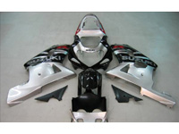 Black/Silver Fairing Set 9pc - Suzuki GSXR 750 2000-2003