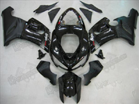 Black Fairing Set 21pc - Kawasaki ZX6R 2005-2006