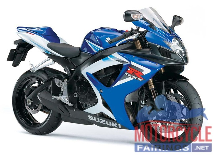 Blue/Black/White ABS Fairing Set K6 - Suzuki GSXR600/750 2006-2007