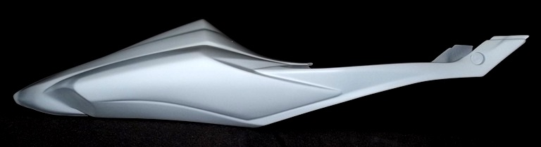 SharkSkinz RACE TAIL/DRAFTSHIELD-uses stock seat - GSXR750 2008-2010
