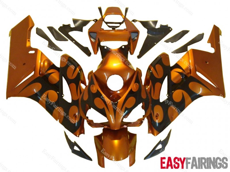 Easy Fairings 04-05 Honda CBR1000RR Fairings: Orange Tribal