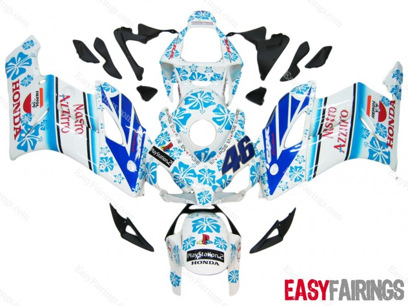 Easy Fairings 04-05 Honda CBR1000RR Fairings: Rossi Nastro Azzurro