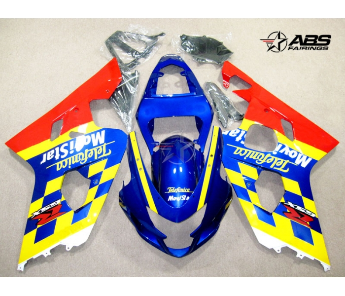 ABS Fairings Movistar Series 9pc Fairing Set - Suzuki GSXR 600/750 2004-2005