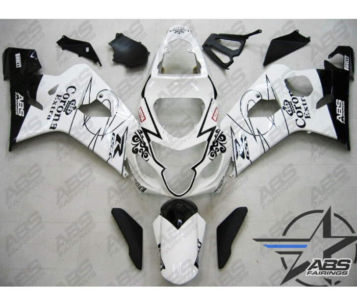 White Corona Extra ABS 9pc Fairing Set - Suzuki GSXR 600/750 2004-2005