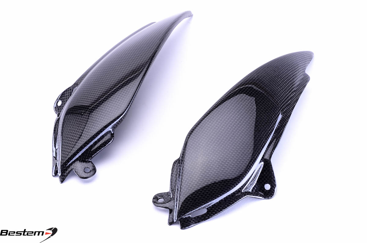 Bestem Kawasaki ZX6R 2005 - 2006 Carbon Fiber Side Panel Upper