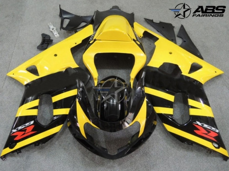 Black & Yellow ABS 9pc Fairing Set - Suzuki GSXR 600/750 2000-2003
