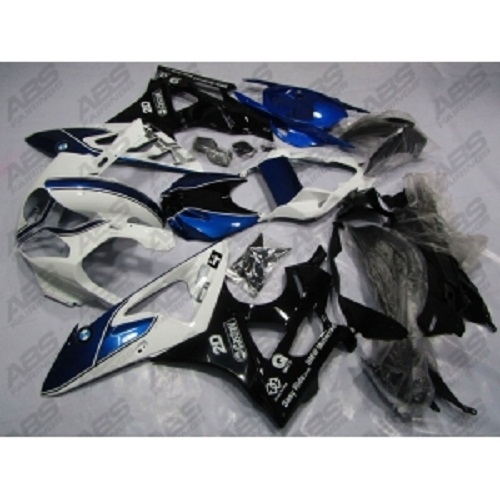 ABS Fairings Blue, Black & White Racing - 2009-14' BMW S1000R