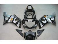 Silver/Black Fairing Set 9pc - Suzuki GSXR 750 2001-2003