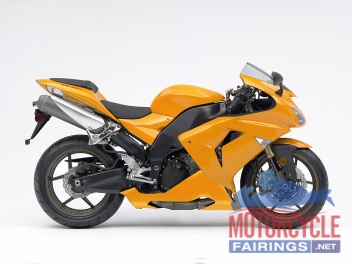ABS Fairings All Gloss Orange Fairing Kit - 06-07 Kawasaki ZX10R