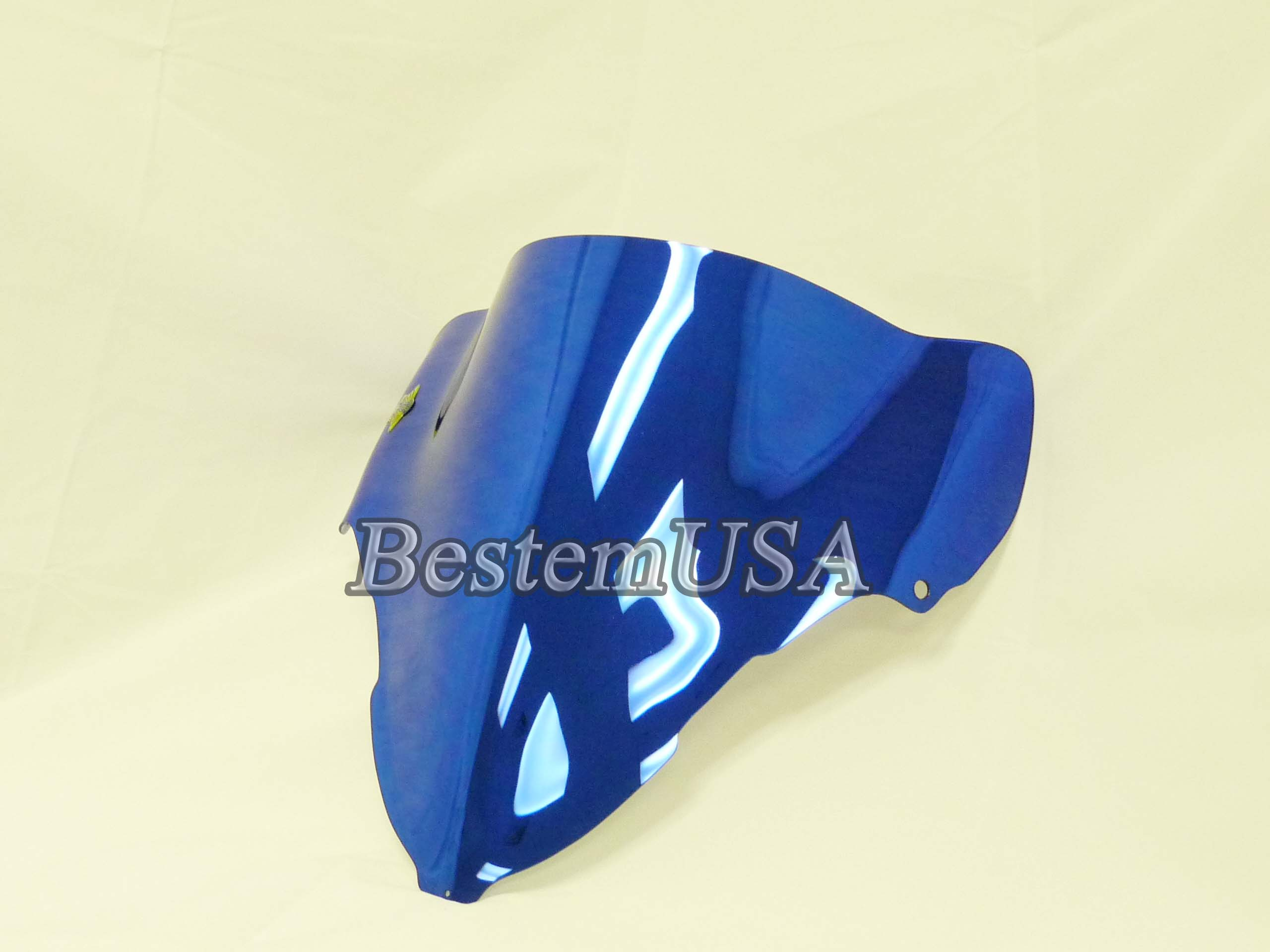 Bestem Suzuki GSXR1300 Hayabusa 99-07 Chrome Blue Windshield #S13B