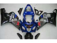 Blue/Black Fairing Set 10pc - Suzuki GSXR 600/750 2004-2005