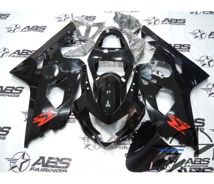 ABS Fairings Gloss Black with Red Decals - 04-05' GSXR 600/750