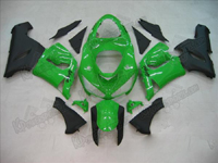 Green/Black Fairing Set 21pc - Kawasaki ZX6R 2005-2006