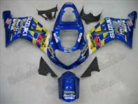 Telefonica Movistar Fairing Set 9pc - Suzuki GSXR 1000 2000-2002