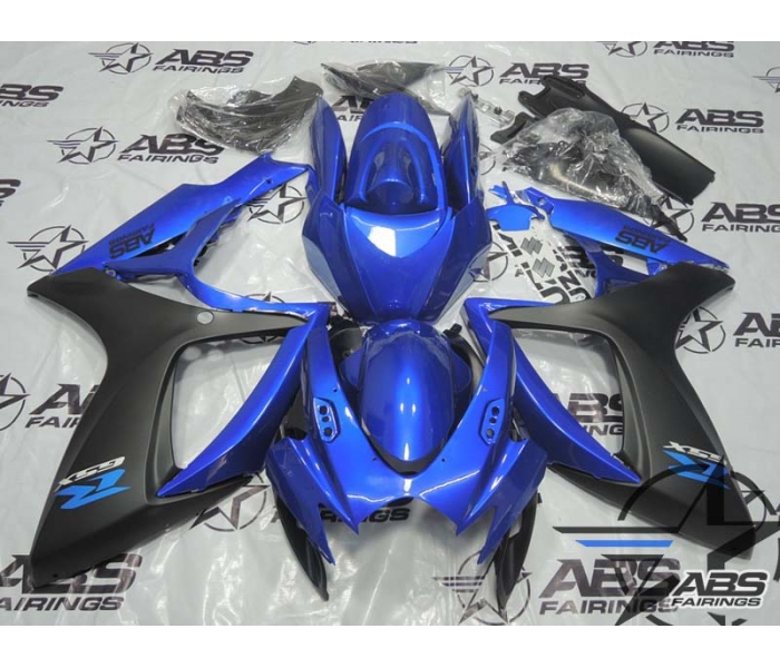 ABS Fairings Blue & Matte Black - 06-07' GSXR 600/750
