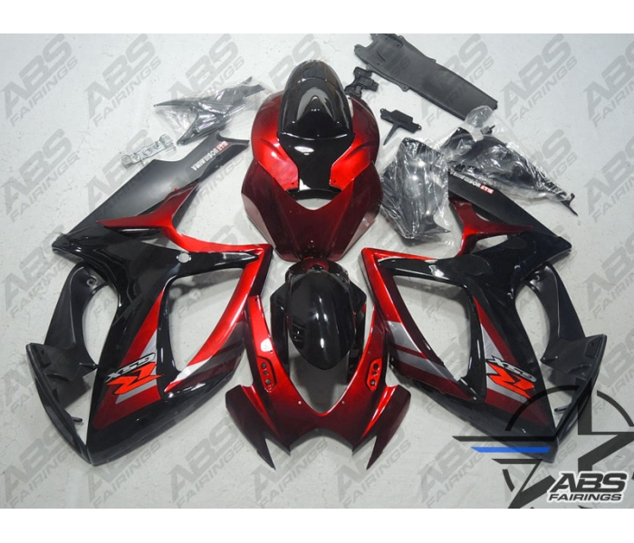 ABS Fairings Deep Red & Black - 06-07' GSXR 600/750