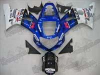 Blue Motul Fairing Set 9pc - Suzuki GSXR 1000 2000-2002