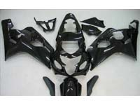 Black Fairing Set 10pc - Suzuki GSXR 600/750 2004-2005