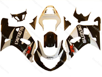 White/Black Fairing Set 9pc - Suzuki GSXR 600/750 2000-2003