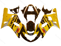 Yellow/Black Fairing Set 9pc - Suzuki GSXR 600/750 2000-2003