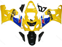 Yellow/Black Fairing Set 10pc - Suzuki GSXR 600/750 2004-2005