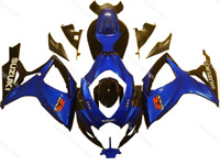 Blue/Black Fairing Set 23pc - Suzuki GSXR 600/750 2006-2007