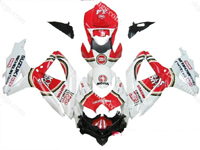 Lucky Strike Fairing Set 29pc - Suzuki GSXR 600/750 2008-2009