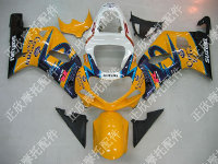 ZXMT Yellow/Blue Corona ABS Fairing Set 9pc - Suzuki GSXR 600/750 2000-2003